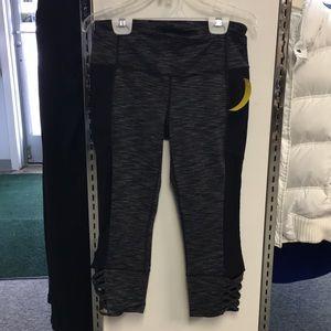 Athleta Gray & Black Leggings Size Small